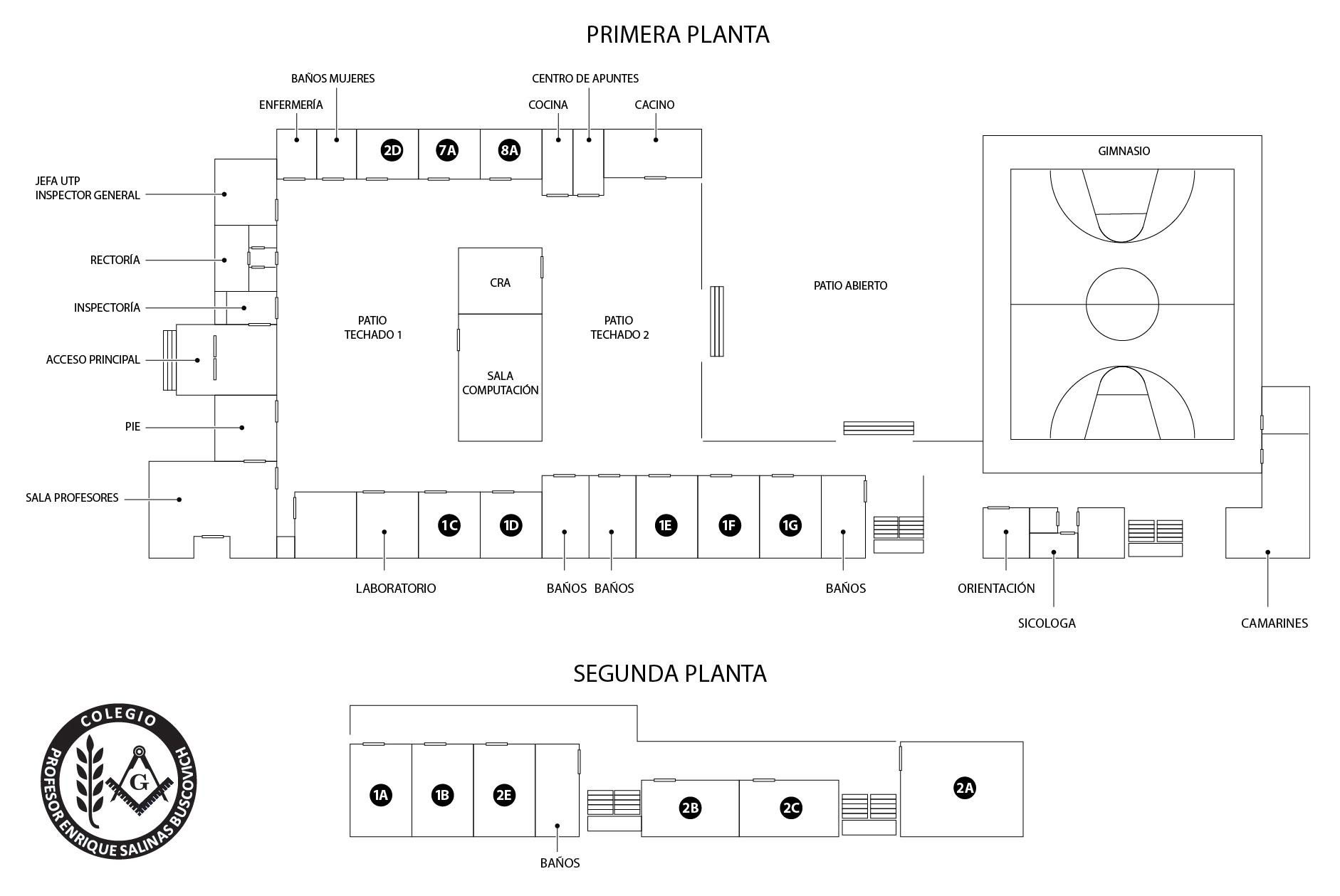 Plano del colegio colegio tp enrique salinas buscovich for Memoria descriptiva de un colegio