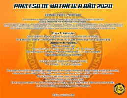 Proceso Matrícula año 2020