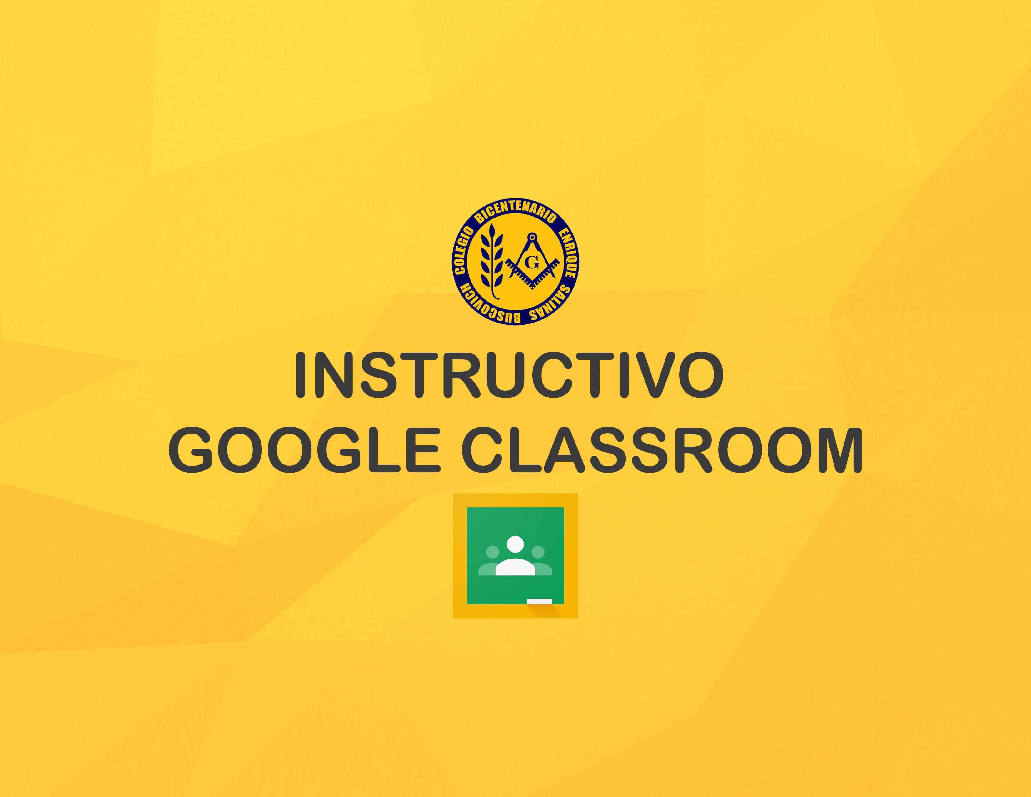 Instructivo para Google Classroom