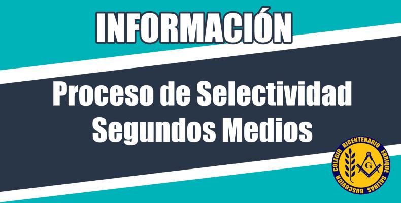 Proceso de Selectividad Segundos Medios